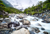 torres del paine chile patagonia river long exposure