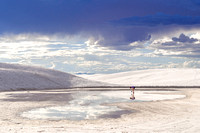 white sands new mexico reflection